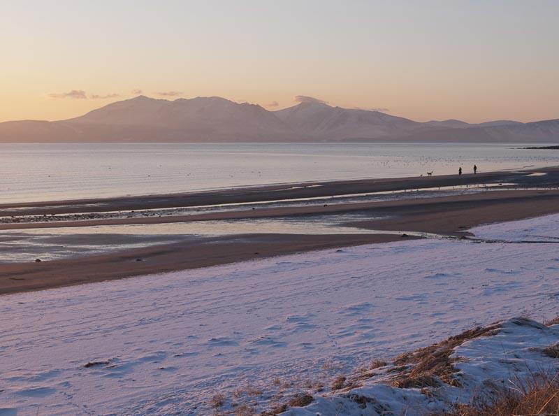 Views of Arran from Culzean Bay Holiday Park near Ayr